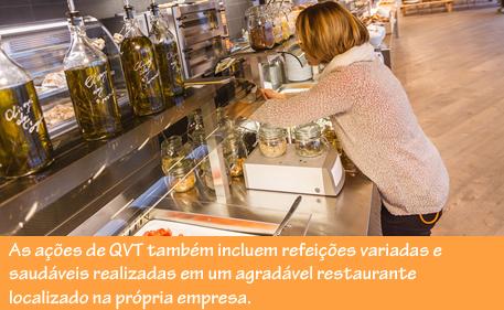 No restaurante da empresa os colaboradores da Avast têm uma alimentação saudável.